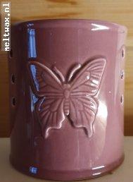 Cylinder vlinder oud roze