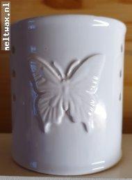 Cylinder vlinder wit